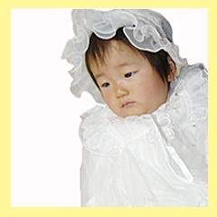 桂由美ベビードレス画像