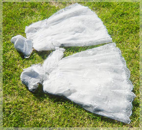 桂由美デザインのベビードレス